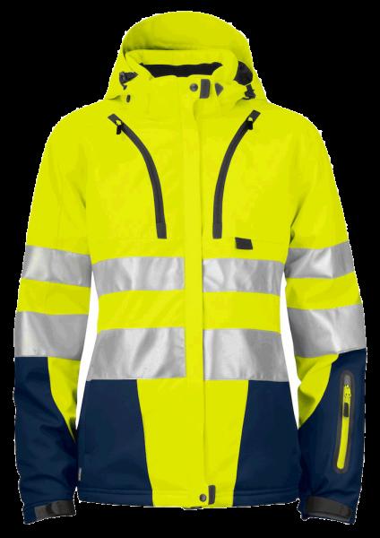 Damen Sicherheits - Winterjacke Projob 6424 EN ISO 20471 KLASSE 3 646424 yellow/navy 10_1