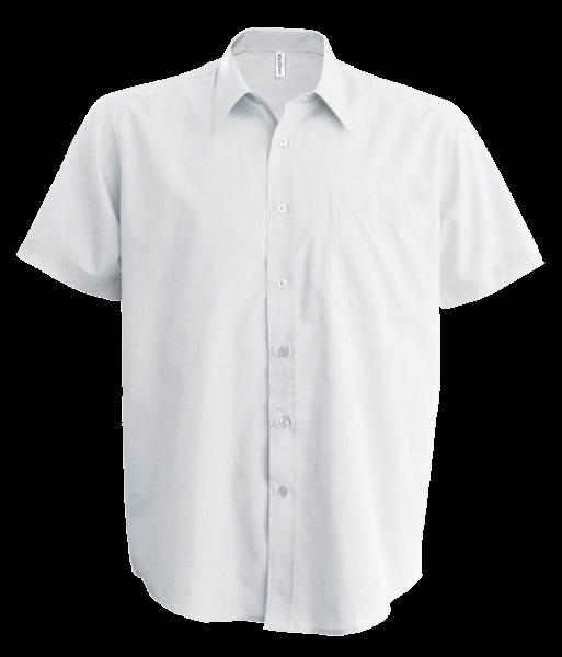 Herren Hemd kurzarm Kariban K539 White_1