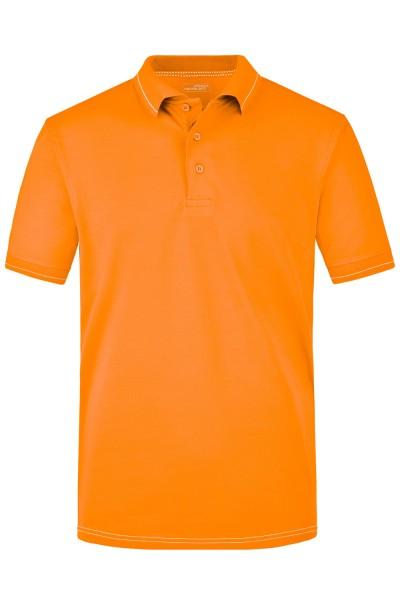 Poloshirt kurzarm James&Nicholson Men's Elastic Polo JN569 orange/white