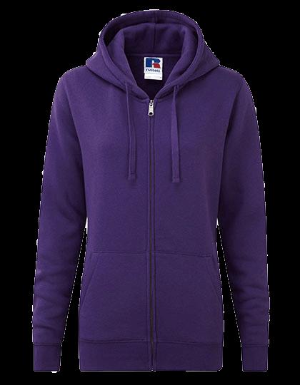 Damen Kapuzenjacke Russell Authentic Zipped Hoody R-266F-0 Purple_1