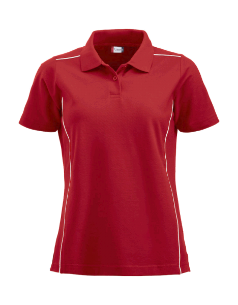 Damen Poloshirt kurzarm Clique New Alpena 028223 Rot 35_1