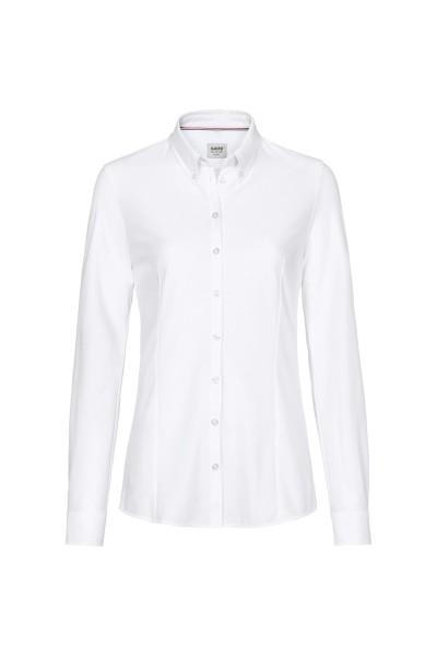 Damen Bluse langarm Hakro Natural Stretch 129 weiss 001