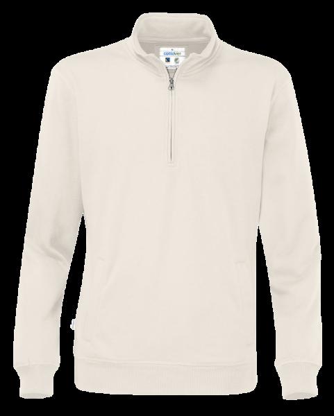 Herren Pullover mit Zipper Cottover Half Zip 141012 Off-White 105