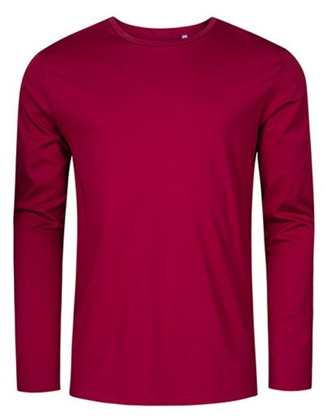 Herren T-Shirt langarm Promodoro Roundneck 1465 Berry