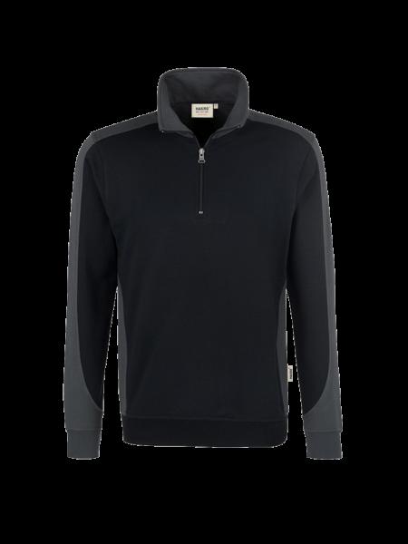 Herren Zip-Sweatshirt Hakro Performance 476 schwarz 005_1