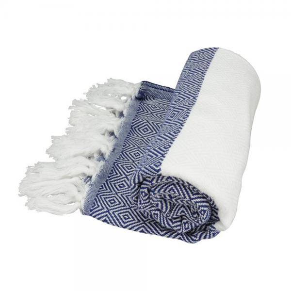 Hamamtuch ARTG Hamamzz Marmaris de luxe Towel AR056 Navy Blue/White