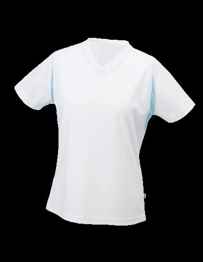 Damen Running-Shirt kurzarm James&Nicholson Running-T JN 316 White Ocean_1