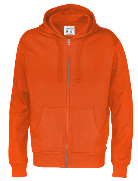 Herren Kapuzenjacke Cottover Full Zip Hoody 141010 Orange 290