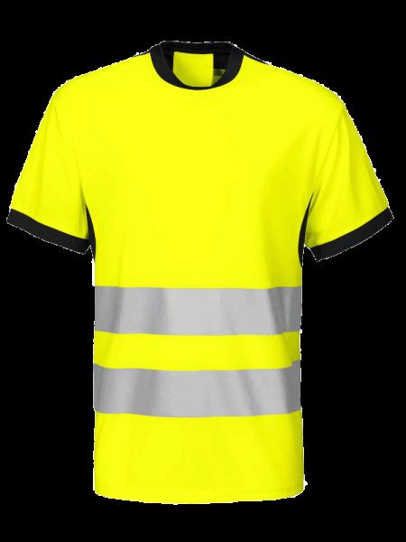 Herren Sicherheits T-Shirt kurzarm ProJob 6009 T-SHIRT EN ISO 20471-KLASSE 2 646009 Gelb/Schwarz 11_1