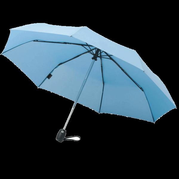 Regenschirm KENT 44600 Taschenschirm-Doppelautomatik Auf/Zu hellblau