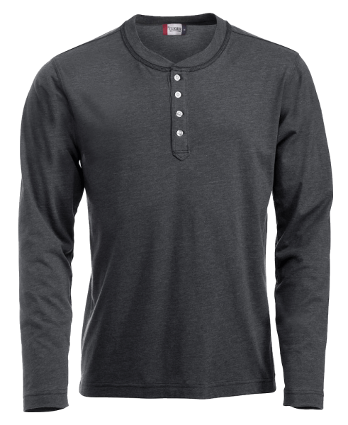 Herren T-Shirt langarm Clique Orlando 029430 Anthrazit meliert 955_1