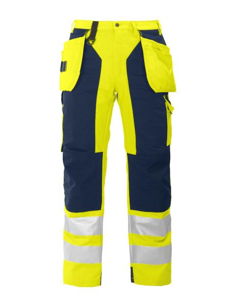 Sicherheitshose ProJob 6506 mit Knieverstaerkung und Haengetaschen EN ISO 20471 Klasse 2 646506 Gelb 10