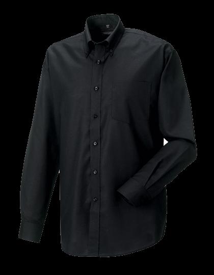 Herren Hemd langarm Russell Oxford R-932M-0 Black_1