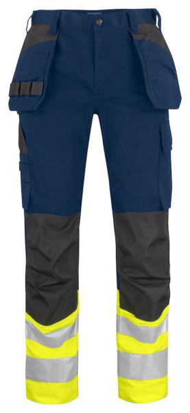 Sicherheitshose ProJob 6534 mit Haengetaschen EN ISO 20471 Klasse 1 modern geschnitten 646534 Gelb/Marineblau 10
