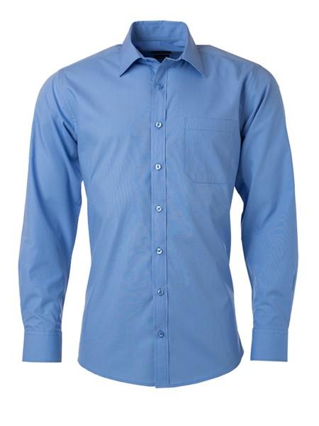 Hemd langarm James&Nicholson Men's Shirt Longsleeve Poplin JN678 aqua