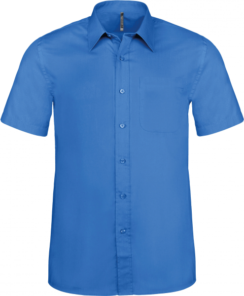 Herren Hemd kurzarm Kariban K551 Light Royal Blue_1