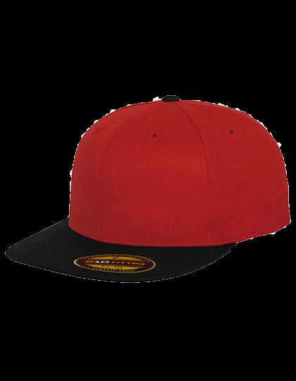 Cap FLEXFIT Premium 210 Fitted 2-Tone 6210T Red Black_1