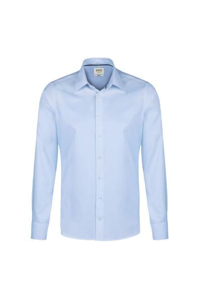 Herren Hemd langarm Hakro Oxford Comfort 117 ozeanblau 135