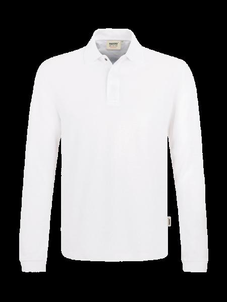Herren Poloshirt langarm Hakro HACCP-Performance 821 weiss 001_1