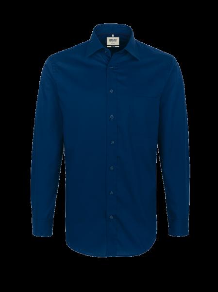 Herren Hemd langarm mit Brusttasche Hakro Business 108 marine 003_1