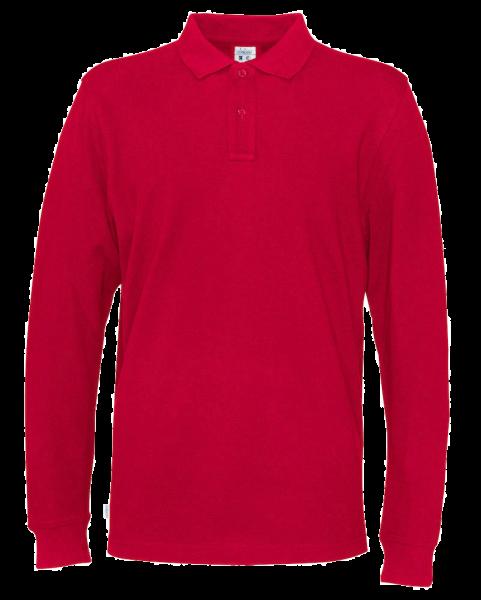 Herren Poloshirt langarm Cottover Pique LS 141018 Red 460