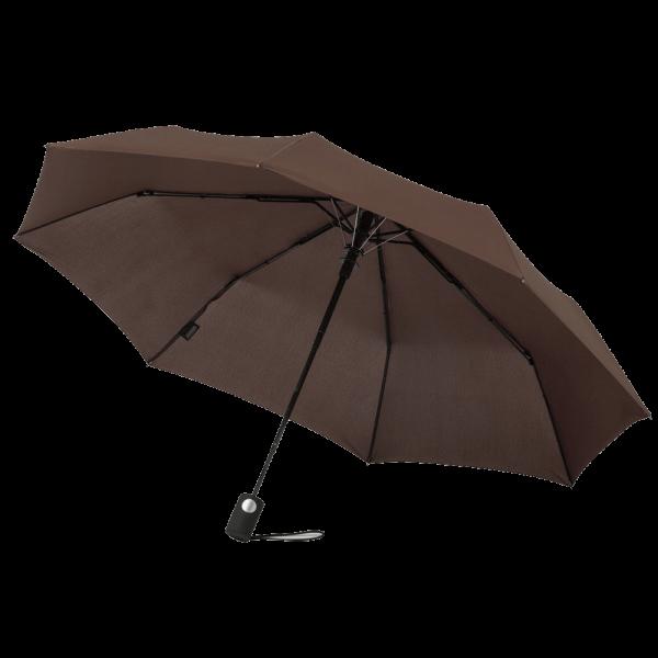 Regenschirm MIRAGE 44110 Taschenschirm-Automatik braun