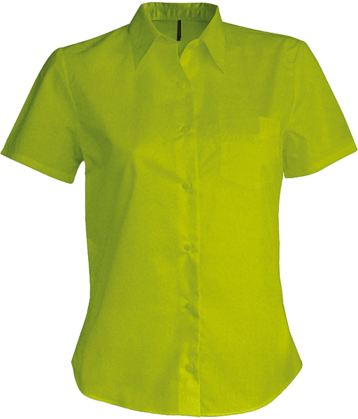 Damen Bluse kurzarm Kariban K548 Burnt Lime_1