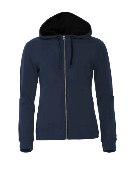 Damen Kapuzenjacke Clique Classic Hoody Full Zip Ladies 021045 Dark navy 580_1