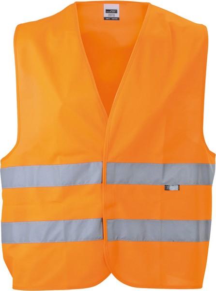 Sicherheitsweste James&Nicholson Safety Vest Adults JN815 fluorescent-orange