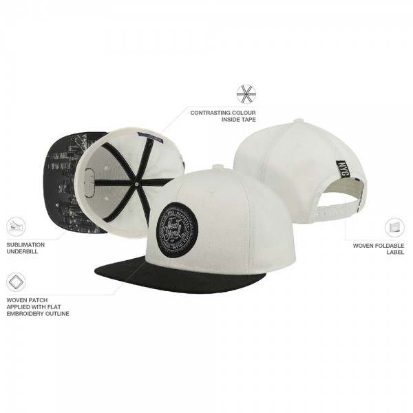 Cap Atlantis LAB2130 White Black