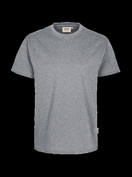 Herren T-Shirt kurzarm Hakro Performance 281 grau meliert 015_1