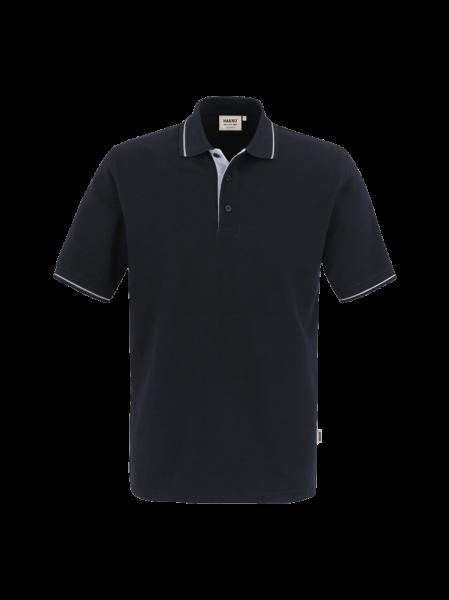 Herren Poloshirt kurzarm Hakro Casual 803 schwarzsilber 005_1
