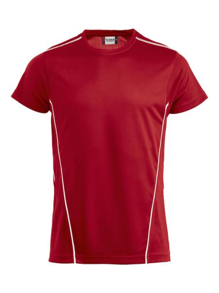T-Shirt Kurzarm Clique Ice Sport-T 029336 Rot Weiss 3500