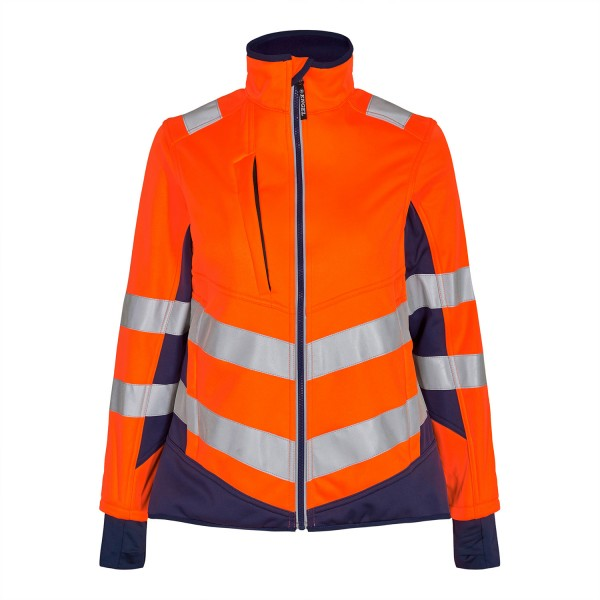 Damen Sicherheits-Softshelljacke FE Engel Safety 1156-237 Orange/Blue Ink 10165