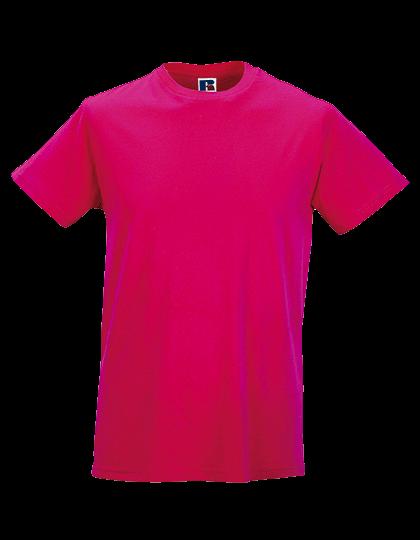 Herren T-Shirt kurzarm Russell Slim R-155M-0 Fuchsia_1