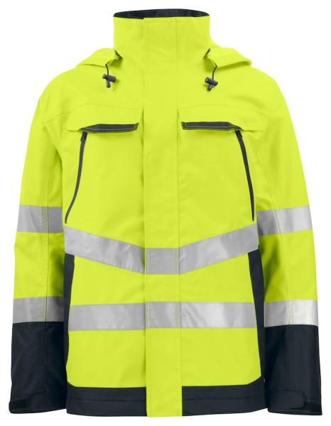 Sicherheitsjacke ProJob 6440 wasser- und winddichter Parka EN ISO 20471 Klasse 3 / EN ISO 343 646440 Gelb/Schwarz 11