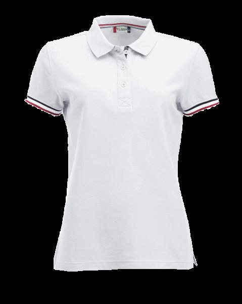 Damen Poloshirt kurzarm Clique Newton Ladies 028239 Weiss 00_1