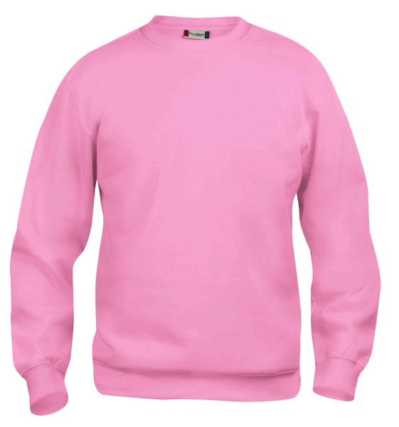 Unisex Pullover Clique Basic Roundneck 021030 Bright Pink 250_1