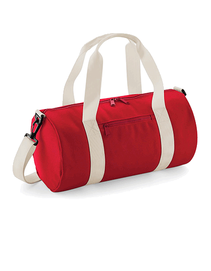 Sportasche BagBase Mini Barrel Bag BG140S Classic Red Off White_1