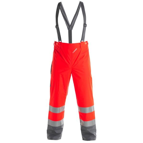 Herren Sicherheits-Regenhose FE Engel EN 20471 2921-102 Rot/Grau 4725