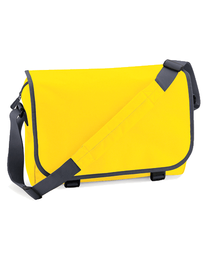 Umhaengetasche BagBase Messenger Bag BG21 Yellow Graphite Grey_1