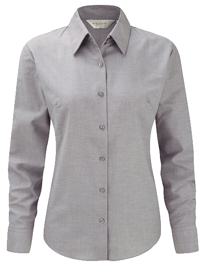 Damen Bluse langarm Russell Oxford R-932F-0 Silver_1
