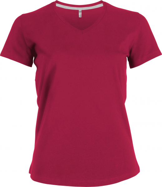 Damen T-Shirt kurzarm Kariban K381 Fuchsia_1