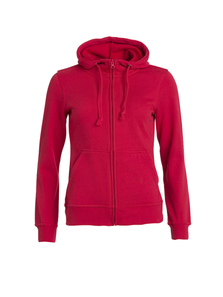 Damen Kapuzenjacke Clique Basic Hoody Full zip ladies 021035 Rot 35_1