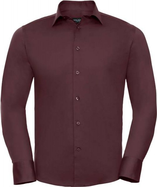 Herren Hemd langarm Russell Collection Fitted Stretch R-946M-0 Port