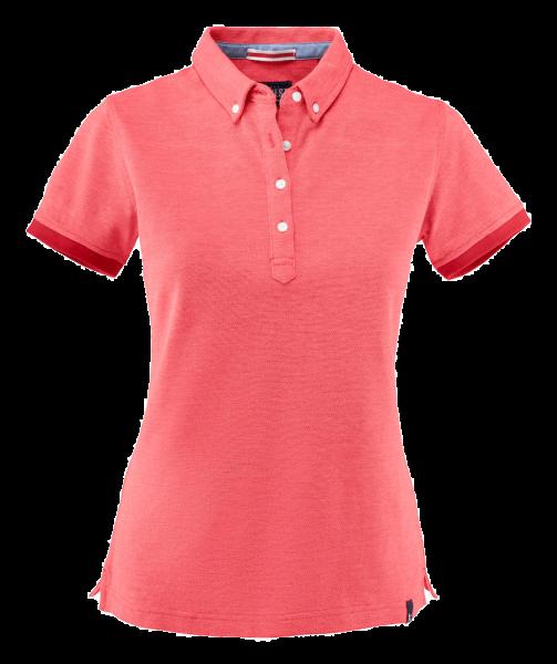 Damen Poloshirt kurzarm Harvest Larkford Lady 2125031 red melange 406_1