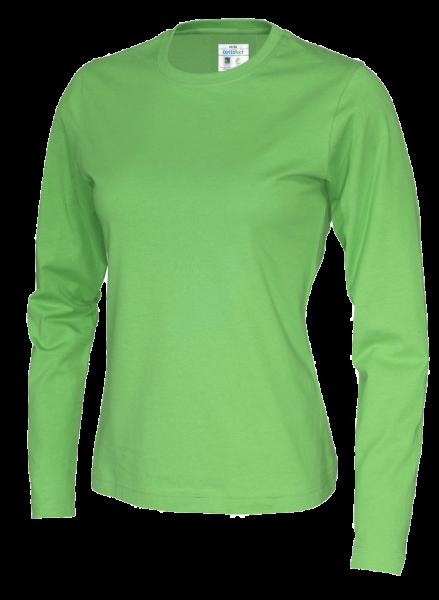 Damen T-Shirt langarm Cottover Jersey LS 141019 Green 645