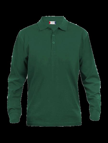 Herren Poloshirt langarm Clique Classic Lincoln L/S 028245 Flaschengruen 68_1