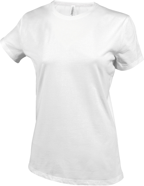Damen T-Shirt kurzarm Kariban K380 White_1