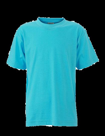 Kinder T-Shirt kurzarm James&Nicholson Basic-T JN 019 Pacific_1